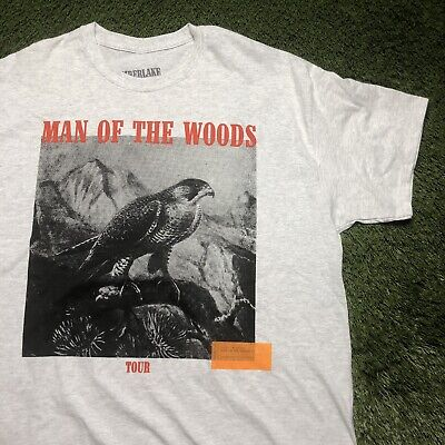 Justin Timberlake Man Of The Woods Concert Tour Short Sleeve T Shirt Size XL