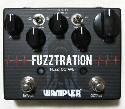 Used Wampler Fuzztration Fuzz and Octave Guitar Effects Pedal!