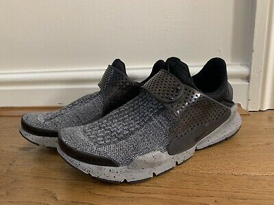 huge discount a3bc3 3b529 Mens Nike Sock Dart Se Pure Platinum And Black Trainers Shoes Size Uk 8