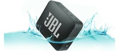 JBL Go 2 Black Waterproof Portable Bluetooth Speaker