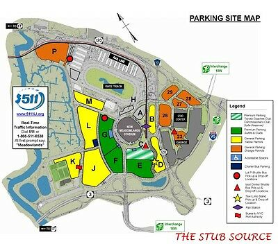 1 New York Giants vs New York Jets 11/10 Green Lot PSL Reserved Parking Pass
