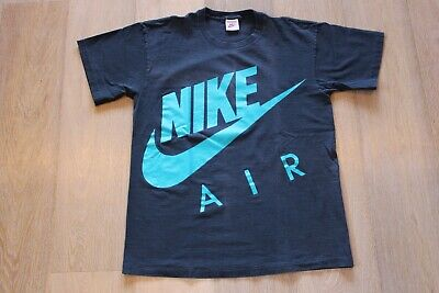 c6bee51735e Vintage 90s Nike Air Double Sided T-shirt Size Large Black Teal Tee Swoosh  VTG