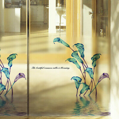 Frosted Natural Calla Lily Wall Art Sticker Vinyl Decal Window Home Decor Mural