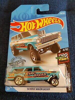 2019 Hot Wheels -'64 CHEVY NOVA WAGON GASSER - Long Card HW RACE DAY #198/250