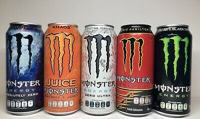 NEW Monster Energy Mexico Khaos / LH/ Zero Ultra/absolutely Zero/cod 5 Full Cans