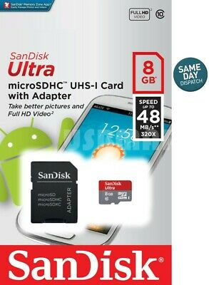 SanDisk 8GB Ultra Class 10 Micro SD Card Extreme Drone DJI Phantom Quadcopter