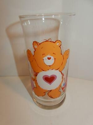 VINTAGE Care Bears Tenderheart Bear Drinking Glass Limited Ed Pizza Hut 1983