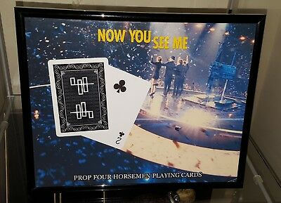 Now You See Me Prop Playing Card Display Screen Used Coa