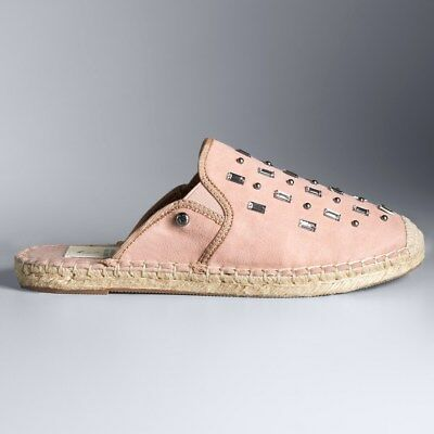 Simply Vera Vera Wang Poetry Womens Espadrille Mules Slide On Blush size 6 NEW