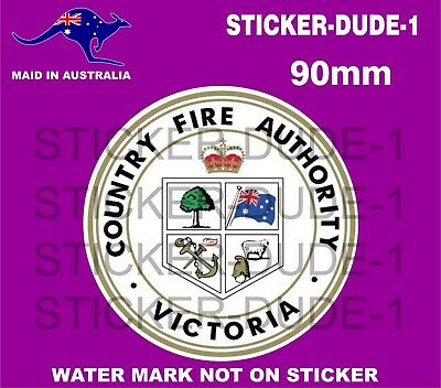 Cfa Country Fire Authority Reflective Sticker 90Mm