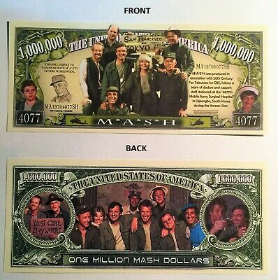 M*A*S*H (MASH) Rare $1,000,000 Novelty Note, TV Shows, Buy 5 Get one FREE, GIFT