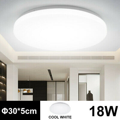 18W Bright Round LED Ceiling Down Light Panel Wall Kitchen Bathroom Lamp Cool