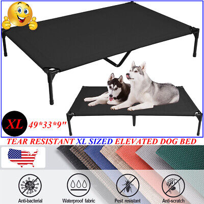VEEHOO Elevated Dog Bed Cooling Pet Cot Extra Large Size Raised Lounger Hammock