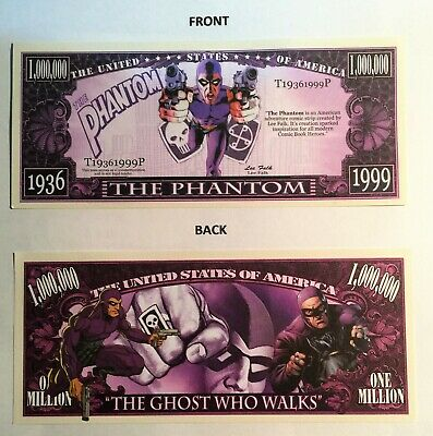 THE PHANTOM 1,000,000 Novelty Note, Comics, Buy 5 Get one FREE, Rare, Gift