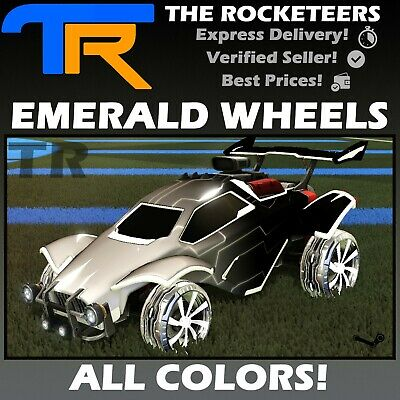 [PC STEAM] Rocket League Every Painted EMERALD Limited Wheels RLCS Reward