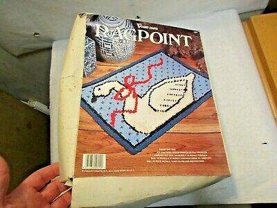 "Vogart Crafts Ragpoint Kit 4921 Goose Rag Rug 20"" x 26"" - New In Box NIB NR"