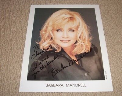 Barbara Mandrell - Autographed 8X10 Photo *Signed* Country Music Singer