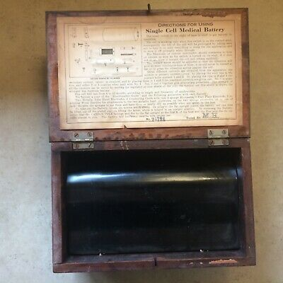 Vintage Wood Single Cell Medical Battery By Signal Electric Manufacturing.