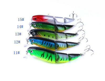 5x Topwater Fishing Lures 10.5cm Crankbait Tackle Baits Tackle Spinner Saltwater