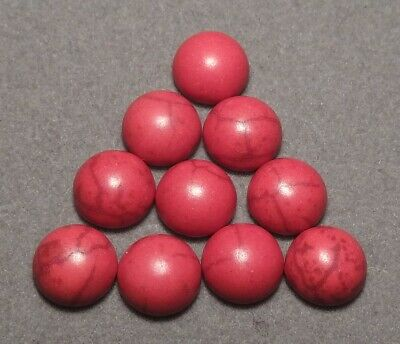 10 x 8 mm 'RED COLOURED Acrylic stone Look-alike' Cabochons      (111)