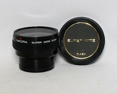 Nikora Super Wide 0.42x Auxiliary lens 49mm Series VII 7 35mm SLR film