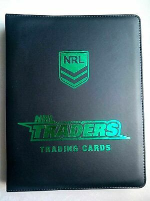 2019 NRL Traders Rugby League Trading Cards Album Folder Binder + 30 Pages