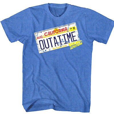 Back to The Future OUTATIME DeLorean License Plate Tag Men's T Shirt Car Movie