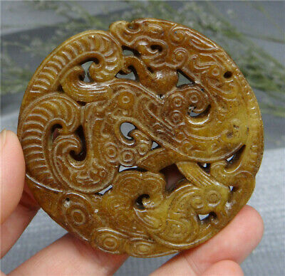 Chinese HongShan Culture Jade Statue Hand Carved Natural Old Jade A5
