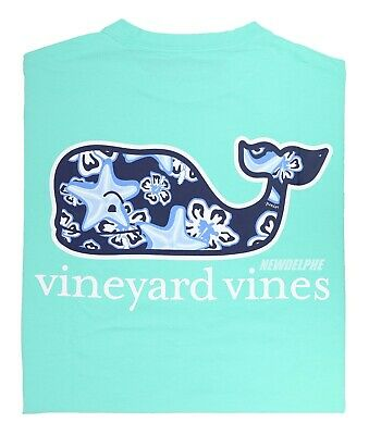 "NWT Vineyard Vines Men SS Whale Pocket Crew T-Shirt Tee ""STARFISH WHALE FILL"""