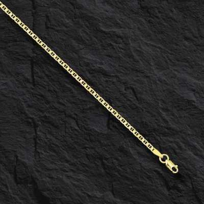 "14kt Solid Yellow Gold Mariner Link Pendant Chain Necklace 1.7 mm 16"" 1.8 grams"