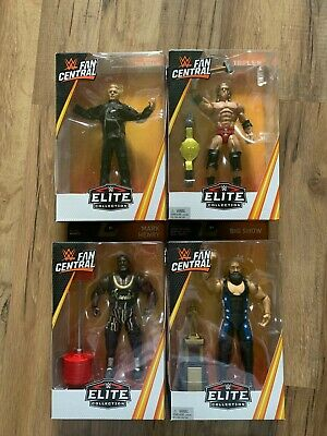 Mattel WWE Elite Fan Central Complete Set Big Show Heenan Triple H Mark Henry