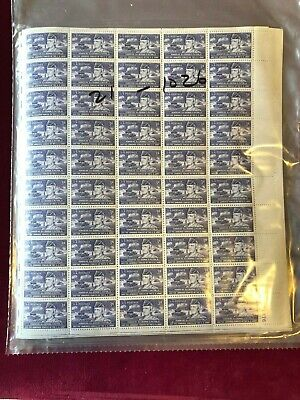US STAMP SHEET SC#1026 General George S. Patton WWII