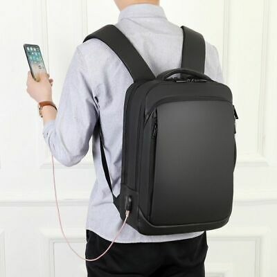 Waterproof Anti-Theft Men Backpack with USB Charging Port Fits 15.6 Inch Laptop