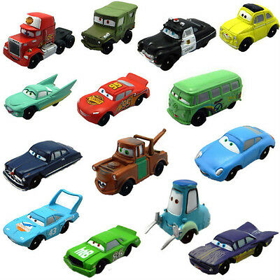 14PCS Cars Lightning McQueen Action Figures Doll Toy Set Cute For Kids Gift