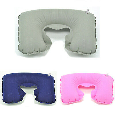 HOT Inflatable Travel Air Cushion Neck Rest U Shape Plane Flight Pillow Reliable