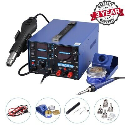 YiHua 4 in 1 853D USB 2A Soldering Station Rework Kit Hot Air Gun Soldering Iron
