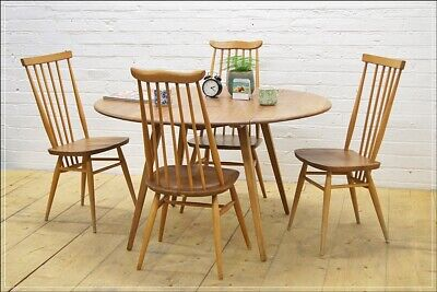 vintage Ercol blonde dining table kitchen table drop leaf  elm beech UK DELIVERY
