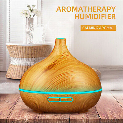 Aroma Diffuser Air Humidifier Essential  Purifier Aromatherapy 300ml LED Light