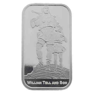 William Tell And Son 1oz .999 Silver Minted Bullion Bar - Suisse Gold