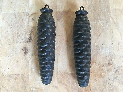 Antique Clock Pine Cone Weights - Pair - 370g EACH - Fantastic Condition