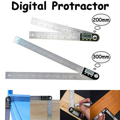 1 Meter Gauge Inclinometer Goniometer Angle Ruler Stainless Digital Protractor