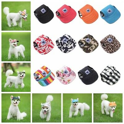 UK Pet Dog Hat Baseball Cap Sports Windproof Travel Sun Hat for Large Dogs Puppy