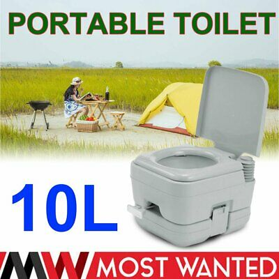 10L Inodoro Portátil Flush Potty Baño WC para Camping Anciano Caravana-BIG SELL