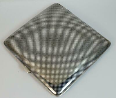 Antique Solid Silver and Niello Enamel German Cigarette Case