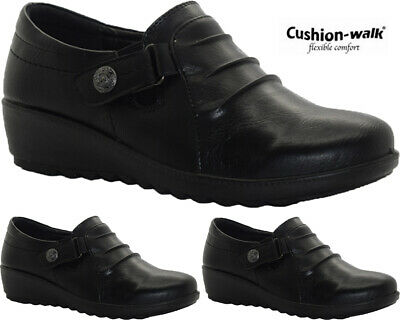 New Ladies Touch Fastening Comfy Hospital Nurse Shoes Womens Low Wedge Work Boot