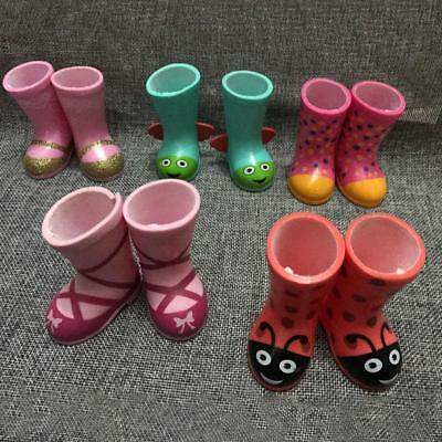 Plaid Wellies Rain Boots for 18 inch Doll Shoes-Baby_Pr