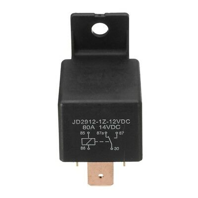 JD1912 Car Relay 12VDC 80A Brass Pin w Holder Hole-Useful