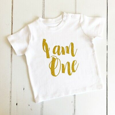 I am One, 1st Birthday T-Shirt or Vest, First Birthday Top