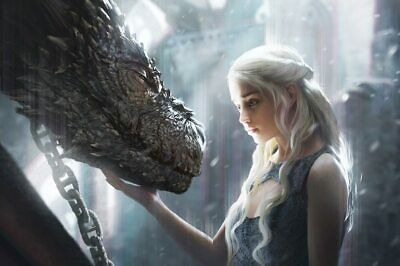 5D DIY Diamond Painting Game of Thrones Daenerys Mom Dragon Embroidery Decor