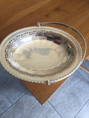 Autique Silver Plate Fruit Bowl- Basket By Roberts Belk Ld Sheffield Made